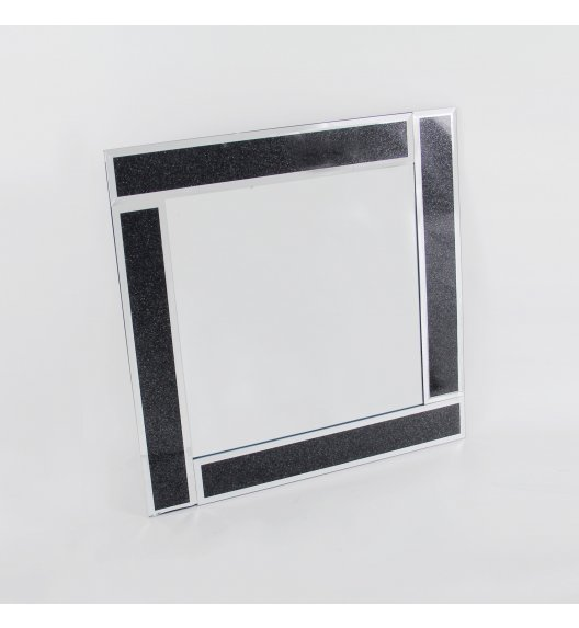 DUO BLACK Lustro szklane 50 cm / Czerń