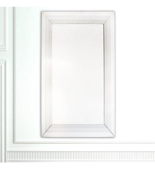 DUO GLASS Lustro szklane 65*90 cm / Srebro