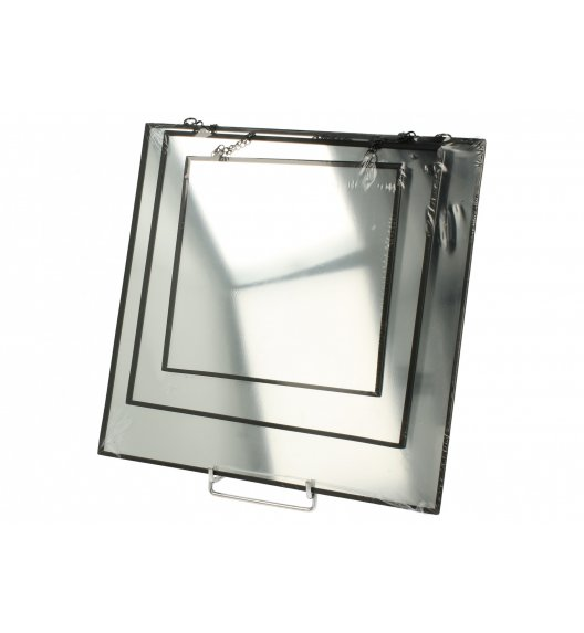 DUO BLACK Zestaw 3 kwadratowych luster szklanych / Czerń