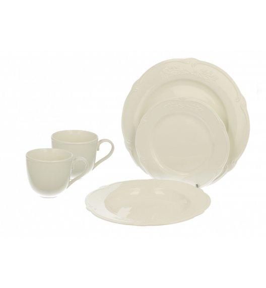 DUO LUXURY Komplet obiadowy 18 el / 6 osób + GRATIS 2 kubki 250 ml / porcelana