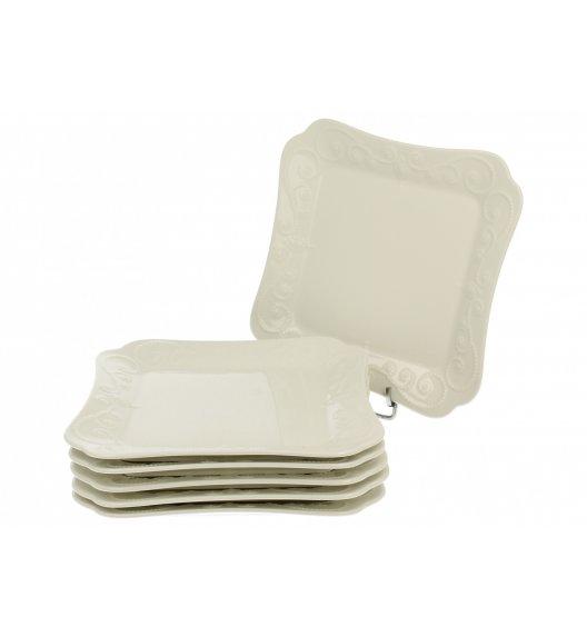 DUO ING Komplet talerzy deserowych 18,5 cm / 6 el / 6 os / porcelana