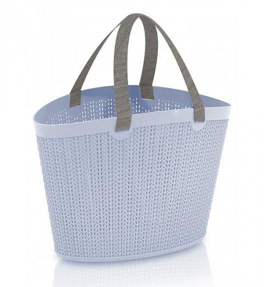 ÜÇSAN PLASTIK KNIT Torba / koszyk na ramię z tworzywa PP / niebieski