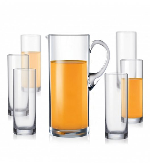 BOHEMIA CRYSTAL VIOLA Komplet Dzbanek 1,5 L + 6 szklanek 300 ml / 7 el / szkło kryształowe