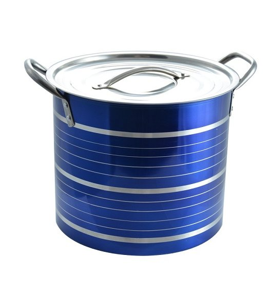 TADAR Garnek ze stali nierdzewnej 8,5 L CINTURE 20,5 cm / Niebieski