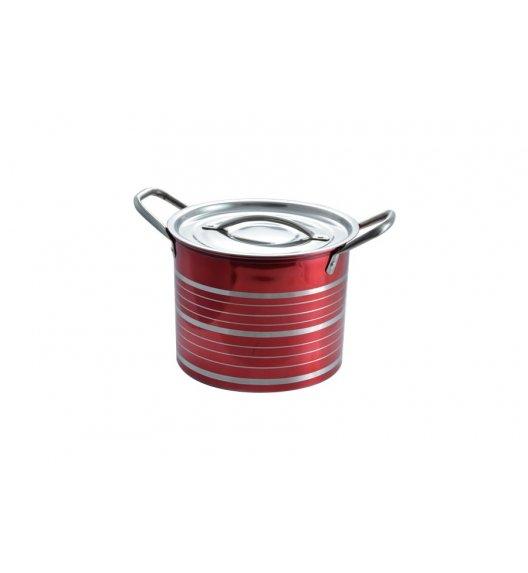 TADAR Garnek ze stali nierdzewnej 14,2 L CINTURE 23,5 cm / Czerwony