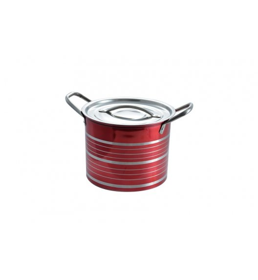 TADAR Garnek ze stali nierdzewnej 19,5 L CINTURE 27 cm / Czerwony