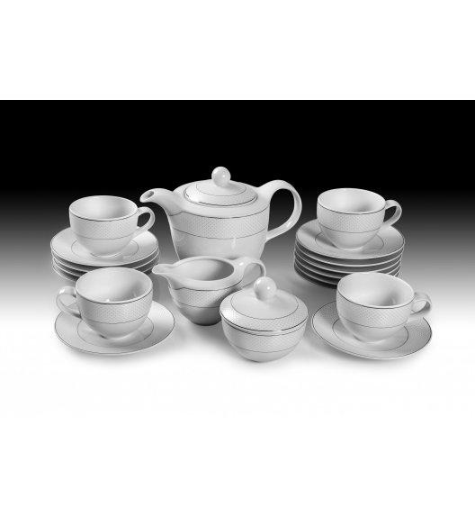 WAZA WA-100 SATYNA Serwis kawowy 27 elementów dla 12 osób / Porcelana / Karolina Amelia
