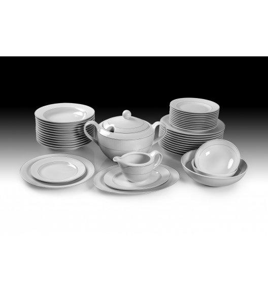 WAZA WA-100 SATYNA Serwis obiadowo-kawowy 70 elementów dla 12 osób / Porcelana / Karolina Amelia