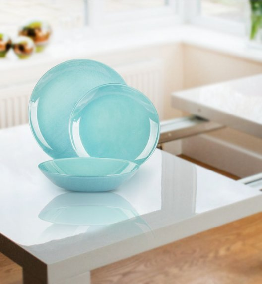LUMINARC ARTY SOFT BLUE Serwis obiadowy 18 elementów dla 6 osób  / Wyprodukowane we Francji