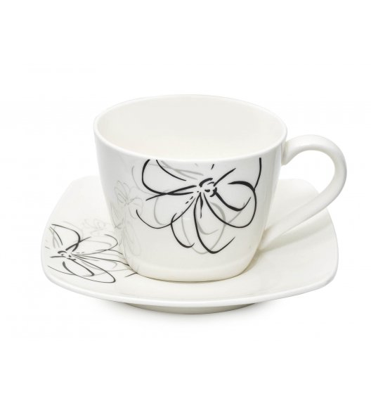 BELLA FIORE Serwis kawowy 12 elementów dla 6 osób / Ceramika / Italian Design / MH-2958/12 / Tragar