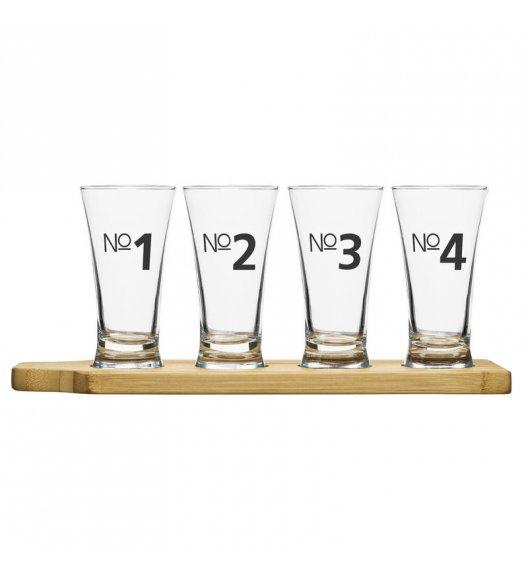 SAGAFORM BAR CLUB Zestaw kieliszków do degustacji piwa 4 szt. + podstawka  / FreeForm