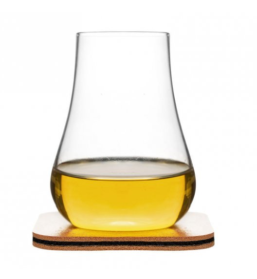 SAGAFORM CLUB 2 szklanki do whiskey ze skórzanymi podkładkami 150 ml / FreeForm
