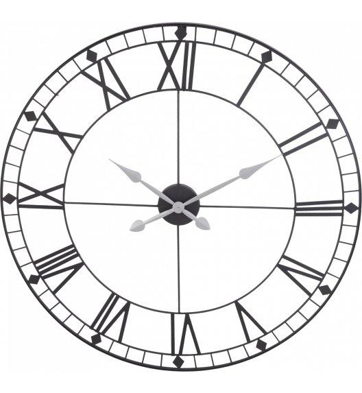 HOME&STYLING COLLECTION Metalowy zegar ścienny ø 88 cm czarny / Koopman