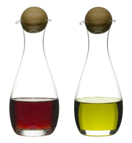 SAGAFORM Szklana karafka z dębowym korkiem do octu i oliwy 0,3 l l NATURE 2 szt / FreeForm