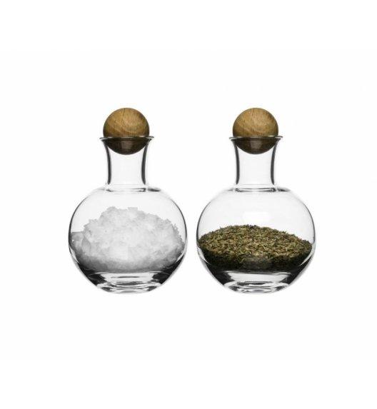SAGAFORM Szklana karafka z dębowym korkiem do przypraw 0,2 l NATURE 2 szt / FreeForm