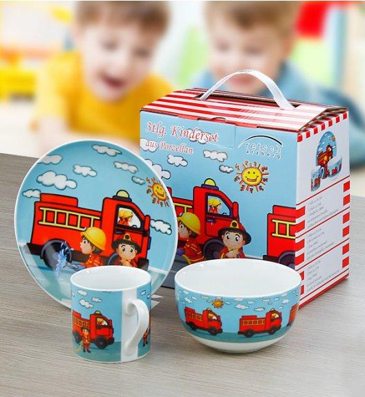 ARZBERG Niemiecki komplet obiadowy dla dzieci 3 el Straż pożarna / 1 os / porcelana