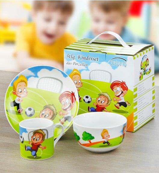 ARZBERG Niemiecki komplet obiadowy dla dzieci 3 el Piłka nożna / 1 os / porcelana