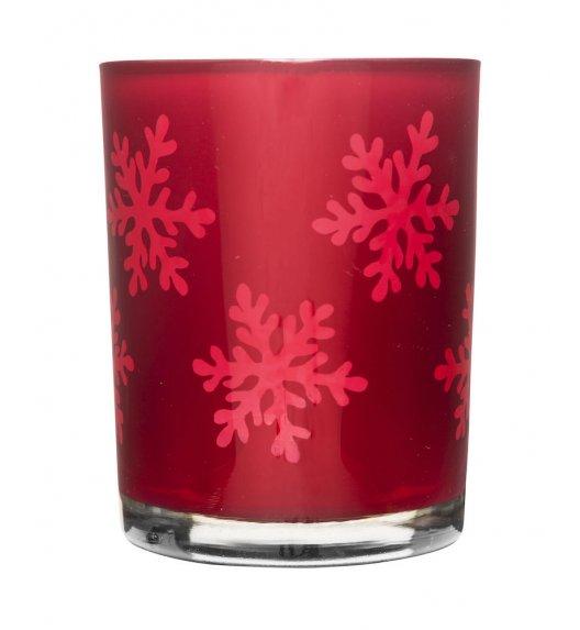 SAGAFORM CHRISTMAS Świecznik szklany ⌀ 10 cm czerwony / FreeForm