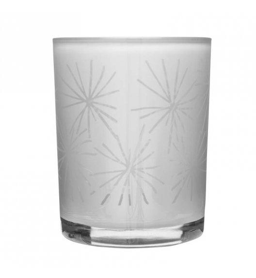 SAGAFORM Świecznik szklany ⌀ 10 cm CHRISTMAS biały / FreeForm