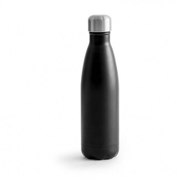 SAGAFORM Termiczna butelka stalowa OUTDOOR czarna 0,5 l / FreeForm