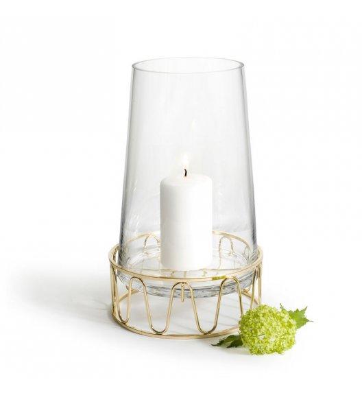 SAGAFORM Świecznik / wazon szklany 28 cm WINTER złoty / FreeForm