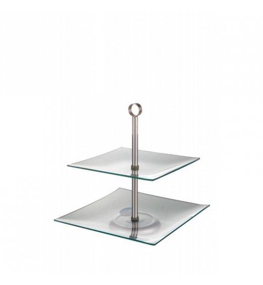TADAR MAGADALENA Kwadratowa patera szklana / 2 poziomy