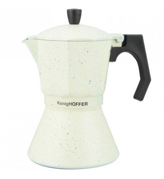KÖNIGHOFFER Kawiarka do espresso 700 ml VANILLA MARBLE / Tworzywo sztuczne