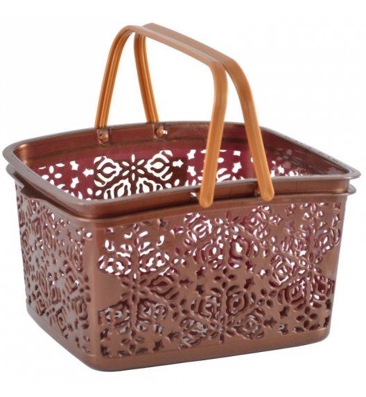 TADAR Koszyk na klamerki 4 l brązowy / tworzywo sztuczne