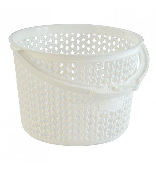 TADAR Koszyk na klamerki 13 cm biały / tworzywo sztuczne