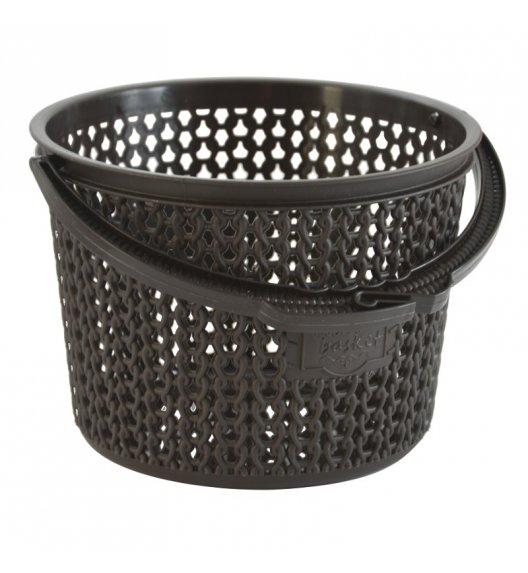 TADAR Koszyk na klamerki 13 cm brązowy / tworzywo sztuczne