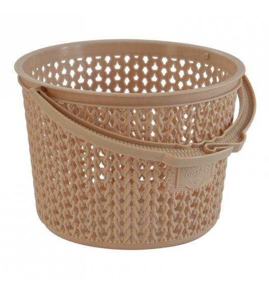 TADAR Koszyk na klamerki 13 cm cappuccino / tworzywo sztuczne
