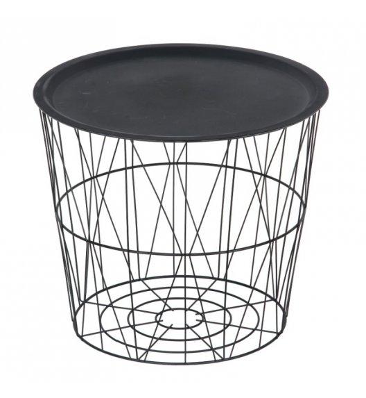TADAR Stolik / koszyk do przechowywania NASCONDERE czarny 46,5 cm / FreeForm