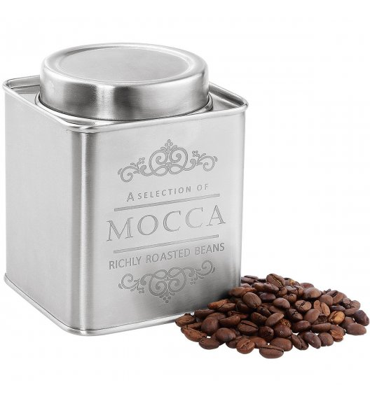 ZASSENHAUS Pojemnik na kawę satynowy MOCCA 250 g / Stal nierdzewna