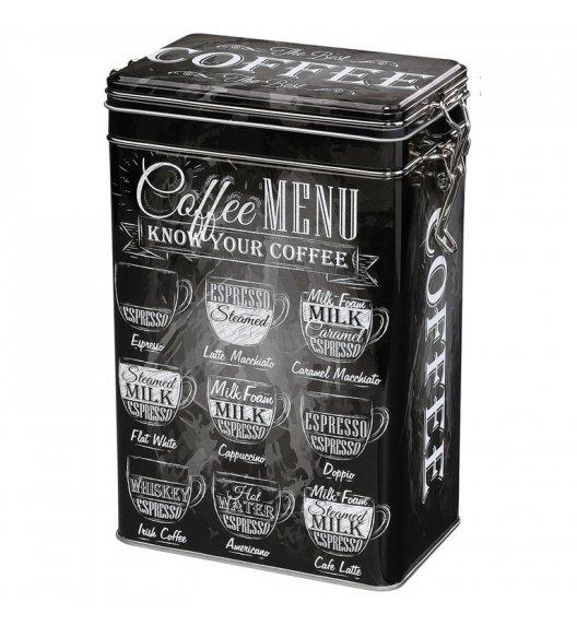 ZASSENHAUS Metalowy pojemnik na kawę w stylu retro 500 g / czarny