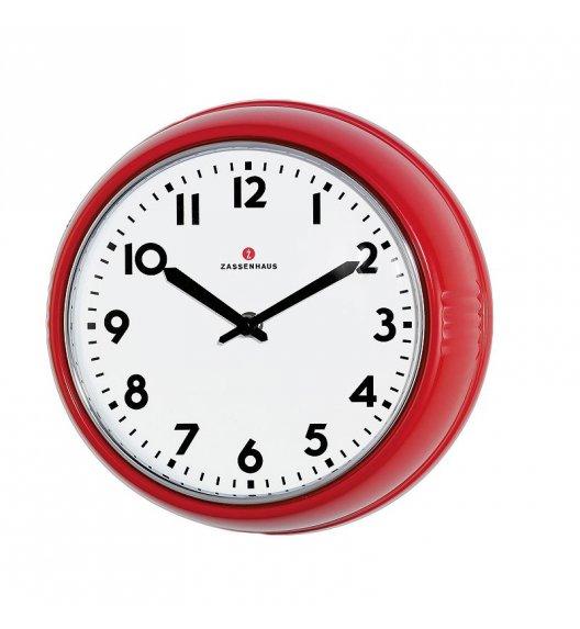 ZASSENHAUS Zegar ścienny ⌀ 24×6 cm RETRO czerwony / FreeForm