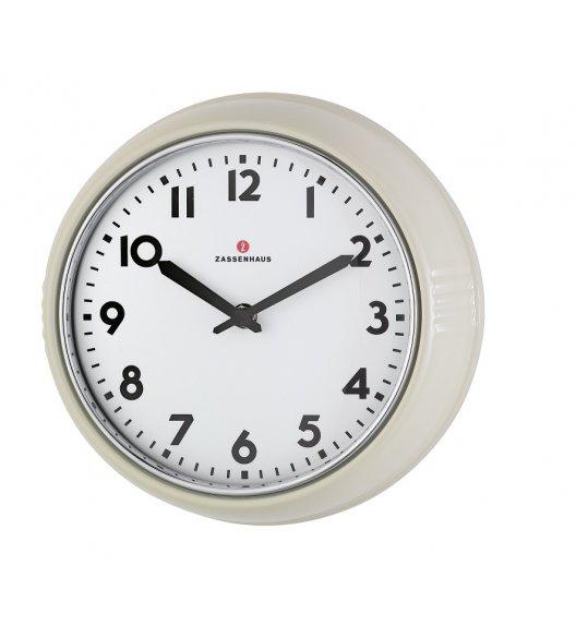 ZASSENHAUS Zegar ścienny ⌀ 24×6 cm RETRO kremowy / FreeForm