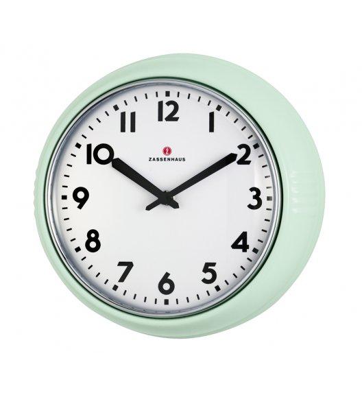 ZASSENHAUS Zegar ścienny ⌀ 24×6 cm RETRO miętowy / FreeForm
