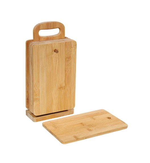 ZASSENHAUS Bambusowe deski do krojenia na stojaku 22 x 18 x 6 cm ECO LINE / FreeForm
