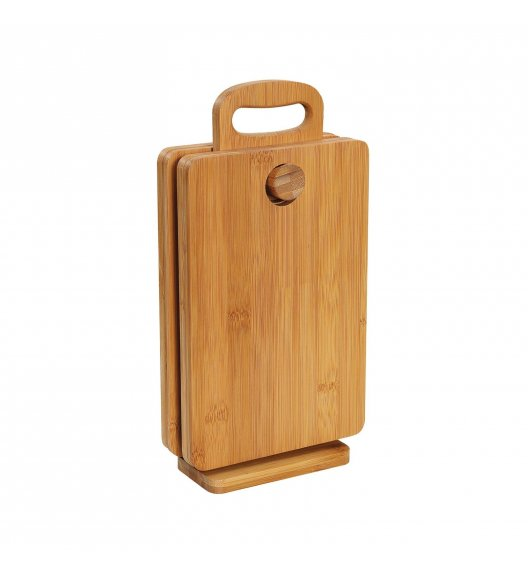 ZASSENHAUS Zestaw 4 bambusowych desek śniadaniowych na stojaku 17 x 7 x 33 cm ECO LINE / FreeForm