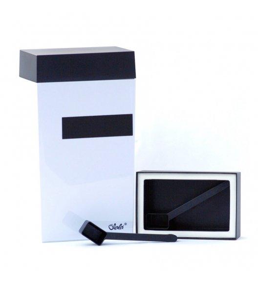 O'LaLa Prostokątny pojemnik z miarką do przechowywania żywności i miejscem do opisu / 4,0 L / biało-czarny / FreeForm