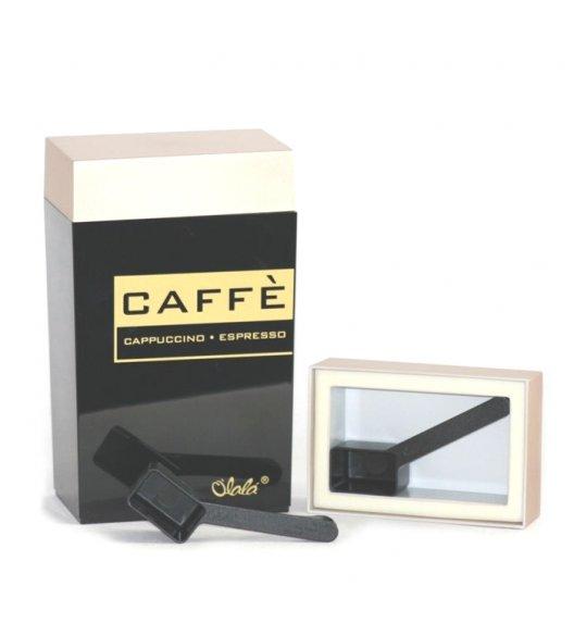 O'LaLa Pojemnik prostokątny z miarką do kawy / 1,25 L / czarno-złoty COFFE AND TEA / FreeForm