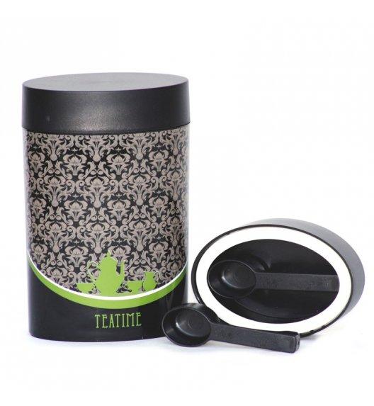 O'LaLa Pojemnik owalny z miarką 0,6 L czarno-zielony / COFFEE AND TEA / FreeForm