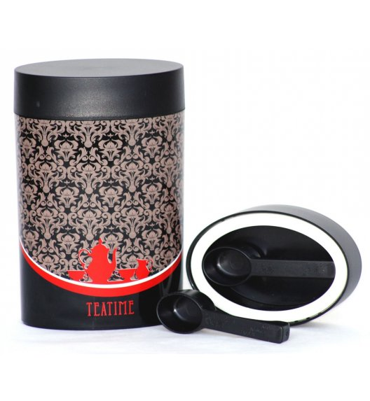 O'LaLa Pojemnik owalny z miarką 0,6 L czarno-czerwony / COFFEE AND TEA / FreeForm