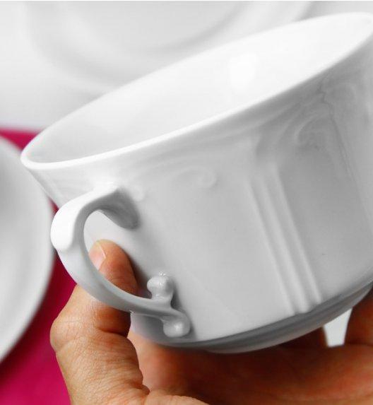 CHODZIEŻ KAMELIA Komplet Bulionówka 400 ml + spodek 16 cm / 2 el / porcelana