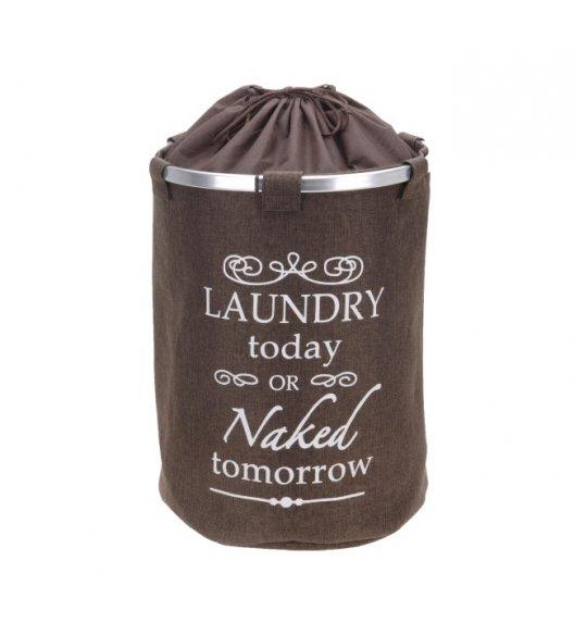 WYPRZEDAŻ! HOME&STYLING COLLECTION Kosz / worek na pranie 38 x 54 cm ciemny brąz / Koopman