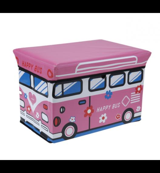 WYPRZEDAŻ! EH EXCELLENT HOUSEWARE Pojemnik / pufa do przechowywania dla dzieci Happy Bus 47L  / Koopman