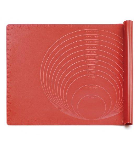 KUCHENPROFI Silikonowa czerwona stolnica z miarką 40 x 60 cm / FreeForm