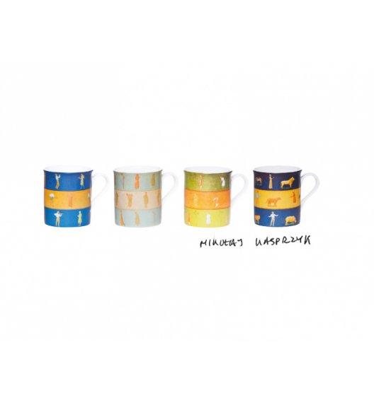 WYPRZEDAŻ! GERLACH KASPRZYK DESIGNER COLLECTION Zestaw kubków 4 elementy w pudełku ozdobnym / Porcelana