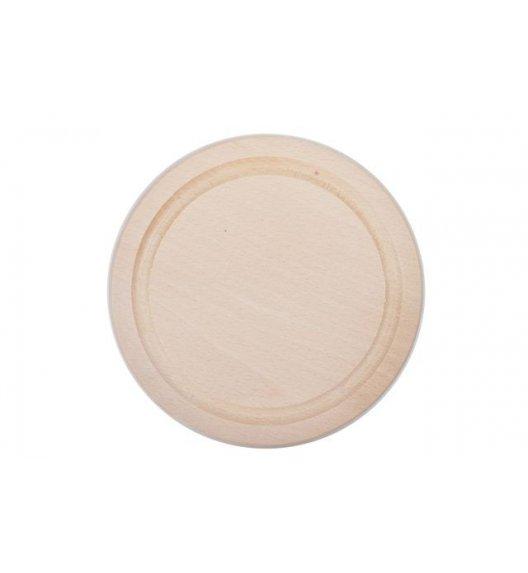 ODELO Okrągła deska z frezem do krojenia ø 20 cm / drewniana / OD7014