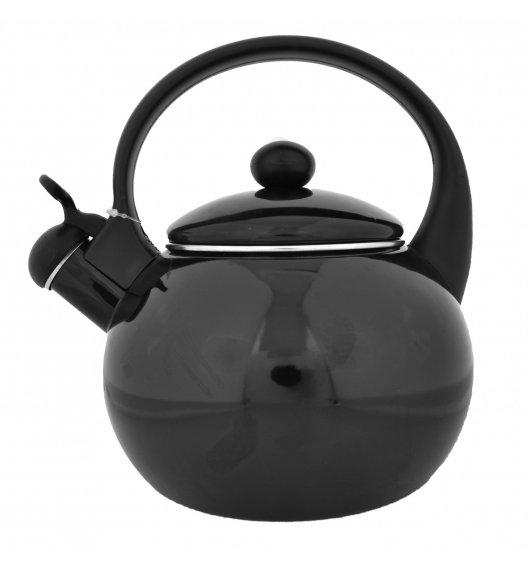 ODELO Czarny czajnik emaliowany z gwizdkiem 2,2 L / indukcja / OD1259B